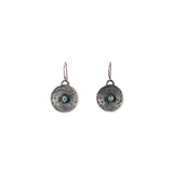 Cast Sea Urchin and Topaz Earrings silver