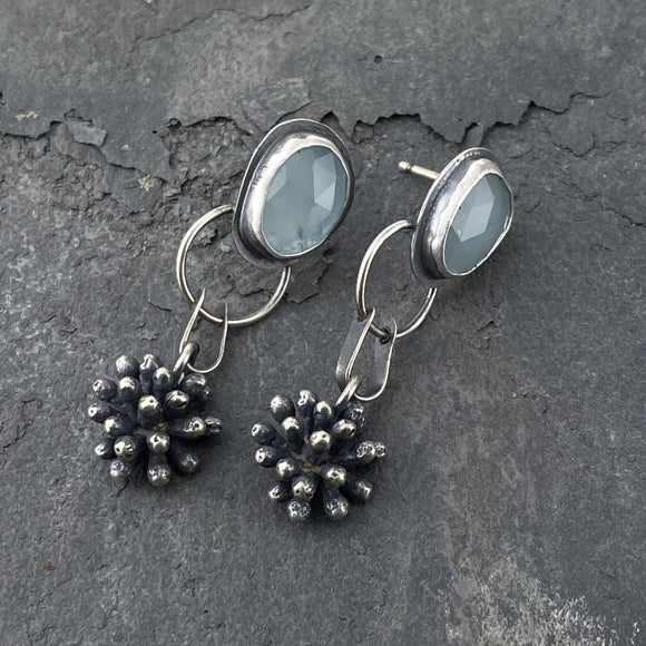 Aquaphase and Mimosa Blossom Earrings