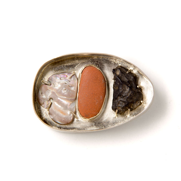 Stone Box Brooch