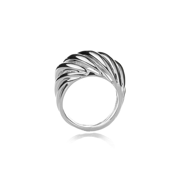Torsade Ring in Silver Sterling
