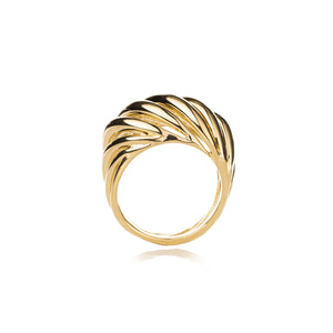 Torsade Ring in Gold