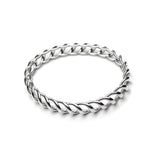 Medusa Bangle Bracelet in Silver