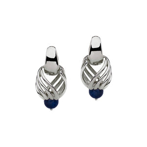 Bell Earrings with Lapis Lazuli silver