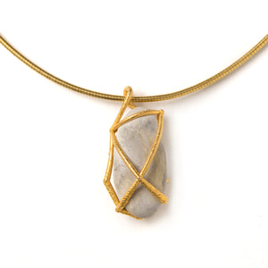 River Pebble Cage Pendant