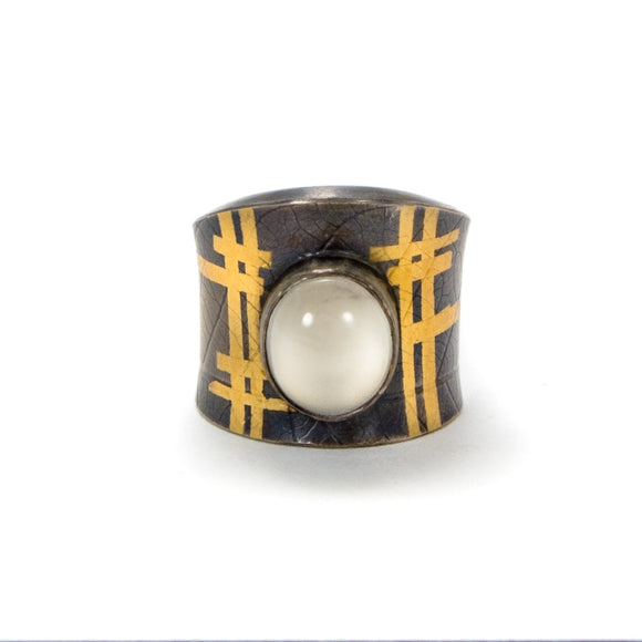 Moonstone and Keum-Boo Ring