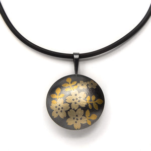 Carolina Andersson - Cherry Blossoms silver and gold pendant keumbo yukata jewelry show