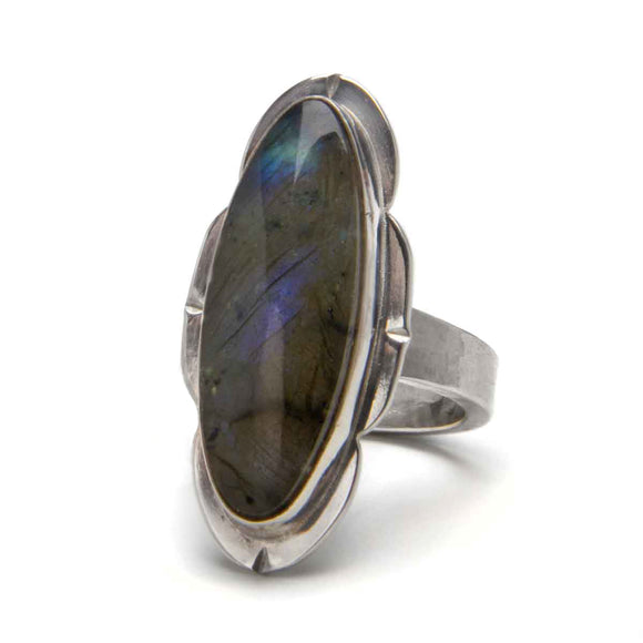 Framed Labradorite Ring
