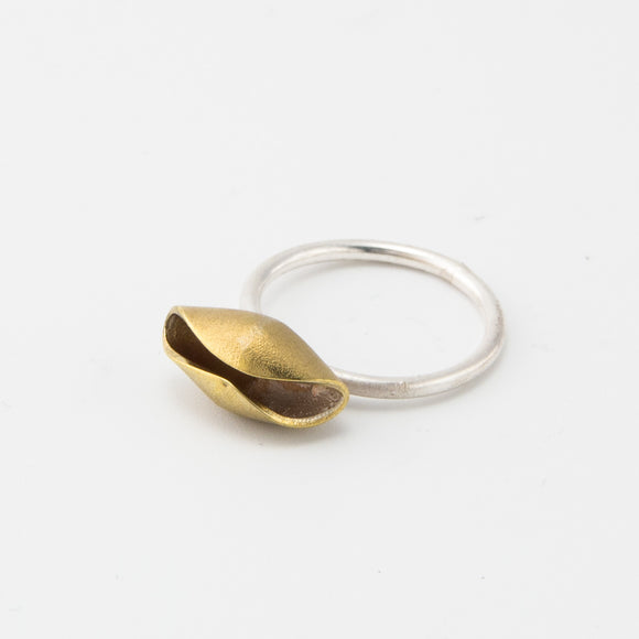 Brass Fairy Cup Ring sterling silver