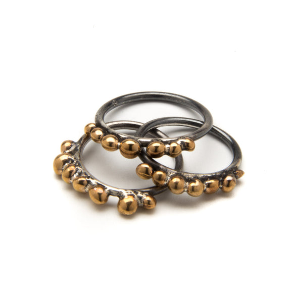 Bronze Seed Stacking Ring