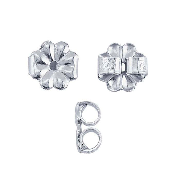 Ear Nut, Sterling Silver, 10pc