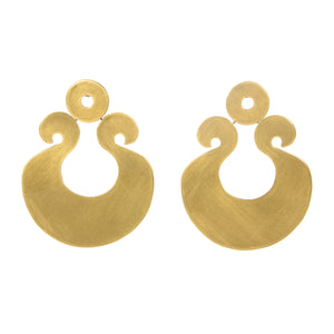 """Maxxine"" Brass Earrings hinged big and lightweight"