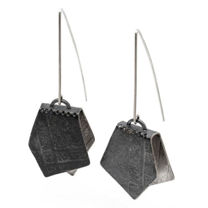 "Sterling Silver ""Borsa"" Earrings"