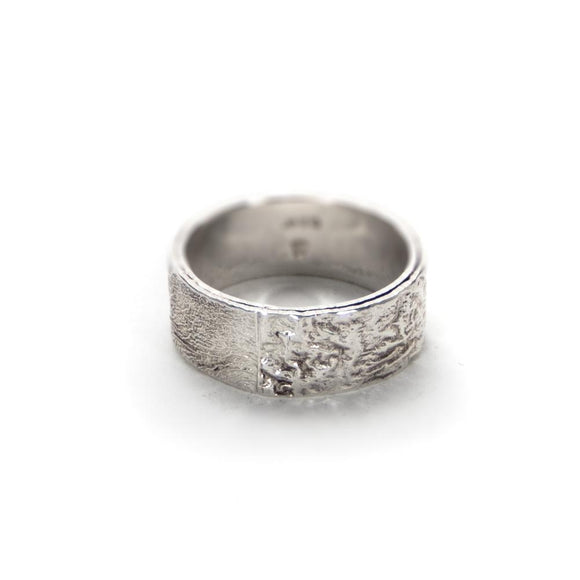 Reticulated Silver Band Ring