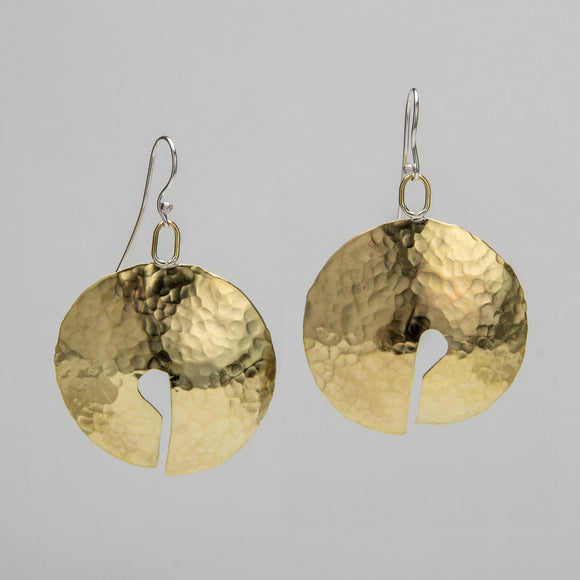 Pierced Brass Dome Earrings