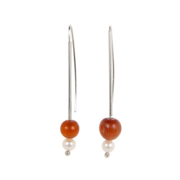 Asymmetrical Delicate Beaded Earrings