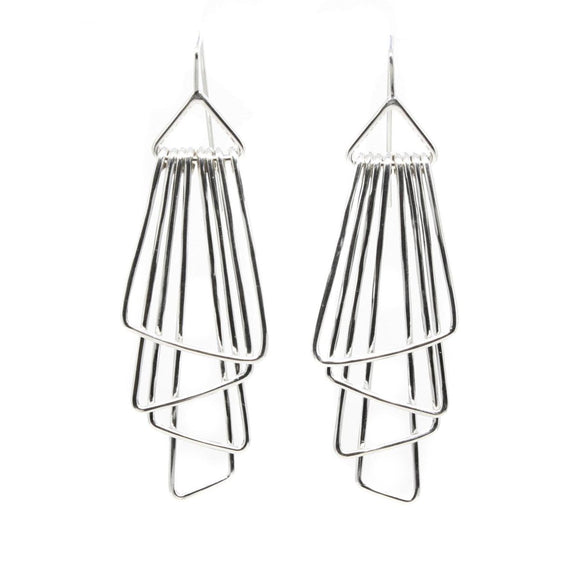 Zig Zag Deco Earrings silver