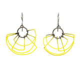 Deco Earrings in Steel painted steel yellow