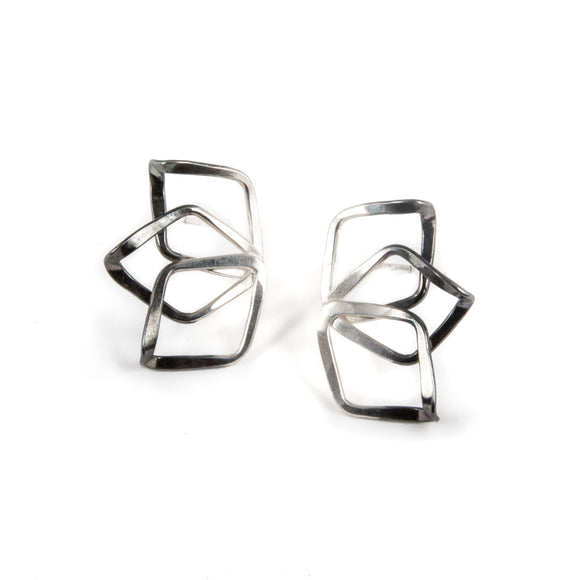 Triple Petal Twist Earrings