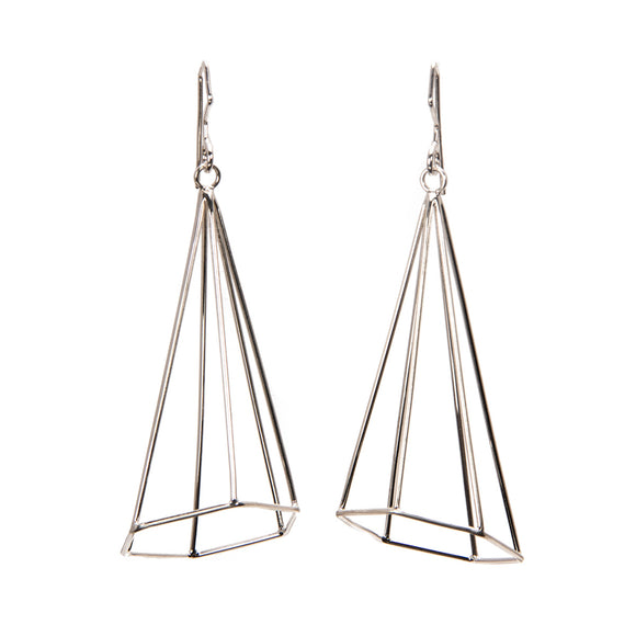 Hi-Lo Spire earrings in silver