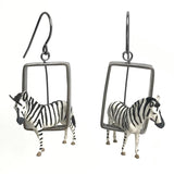 Zebra Earrings in Sterling Silver