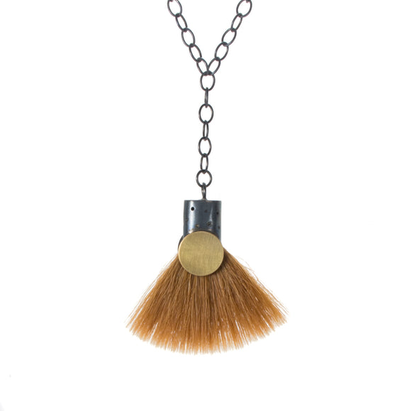 Fan Bristle Paintbrush Necklace
