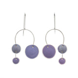 Porcelain Chandelier Earrings in Light Purple