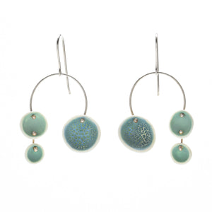 Porcelain Chandelier Earrings in Light Aqua
