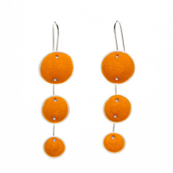 Light Orange Porcelain Pod Earrings