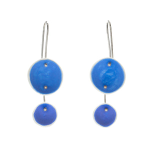 Duo Pod Earrings in Periwinkle and Medium Blue