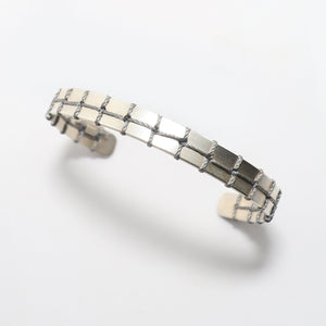Grey Stitched Narrow Bracelet