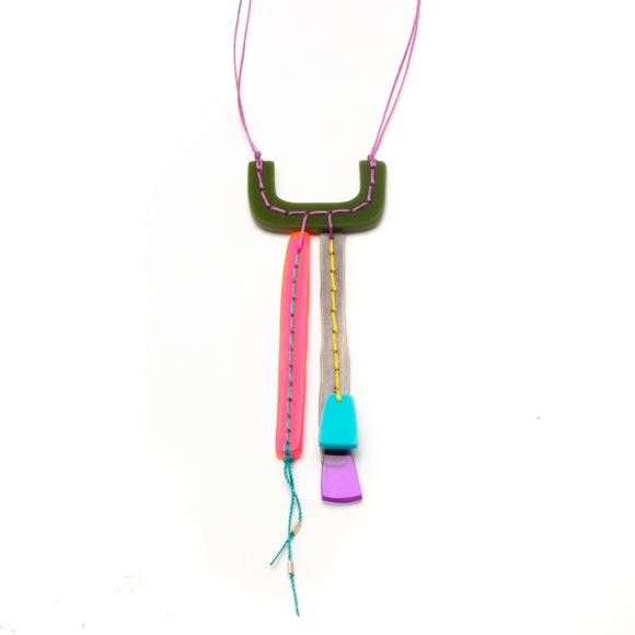 Multicolor Stitched Necklace