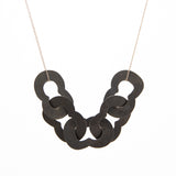 Steel Lilac Linked Necklace