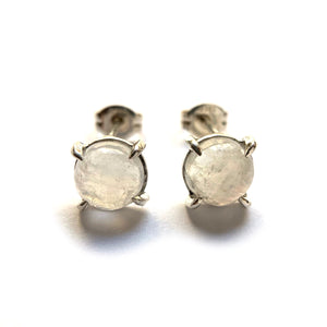 """Dash"" Earrings silver moonstone"