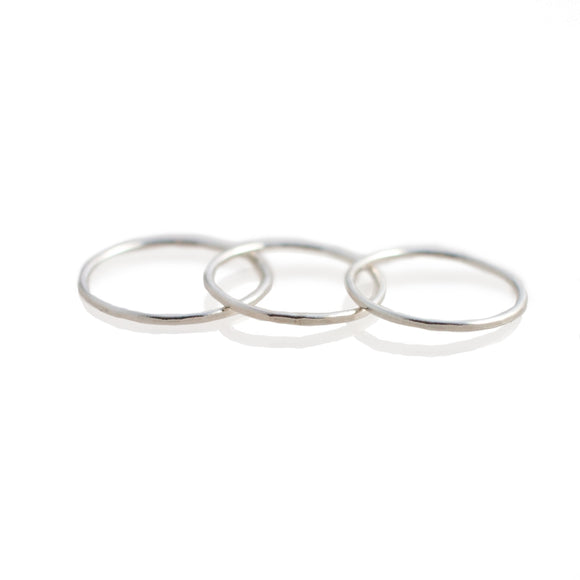 Skinny Silver Stacking Rings