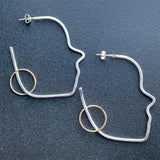 Profile Hoop Earrings in Silver and Gold-Fill