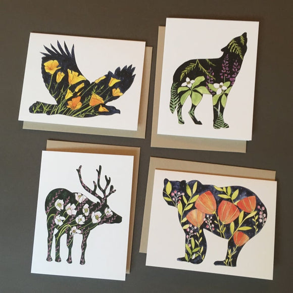 Pacific Northwest Animal Notecards