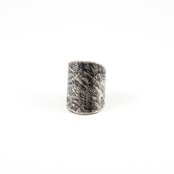 Lace Embossed Wrap Ring
