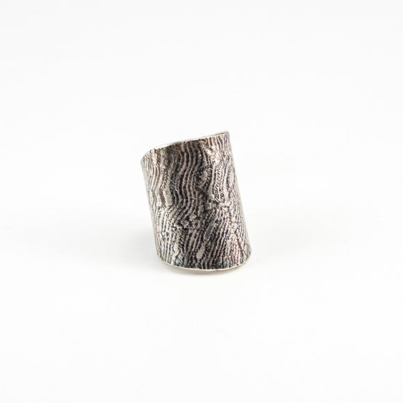 Extra Wide Lace Embossed Wrap Ring
