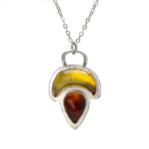 Amber Moon Talisman Necklace