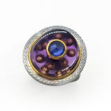 Ryan Gardner - Amethyst Gold Bubble Ring