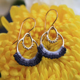 "Hand-Dyed ""Maha"" Earrings in Gold"
