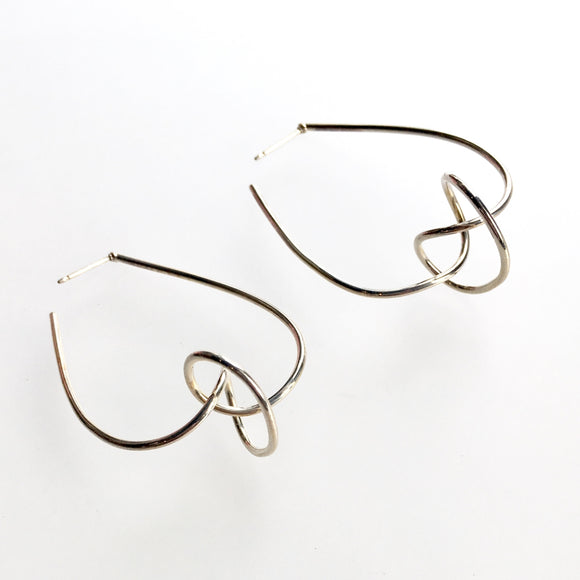 Knot Hoop Earrings in Sterling Silver Tory Herford