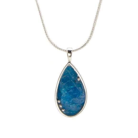 Raw Blue Apatite Necklace