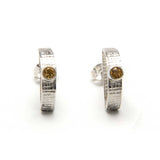 Citrine Half Circle Earrings