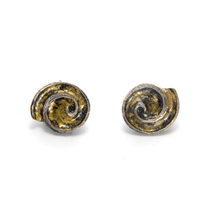 Silver and Gold Shell Earrings