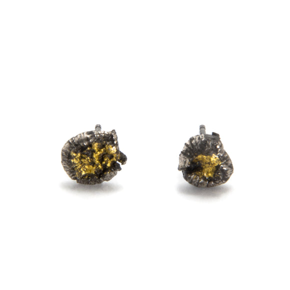 Silver and Gold Texture Studs