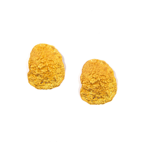 Gold Texture Earrings