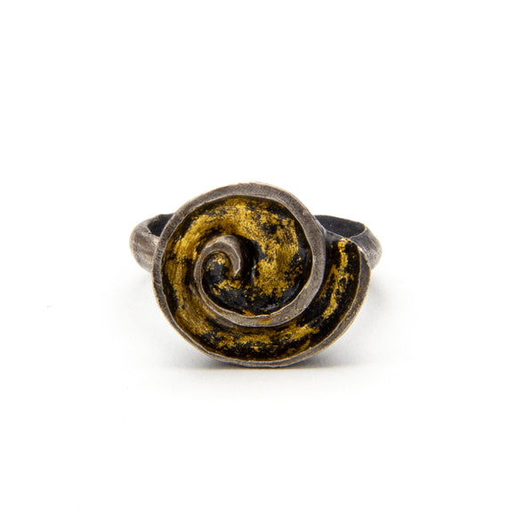 Gold Leaf Sea Shell Ring