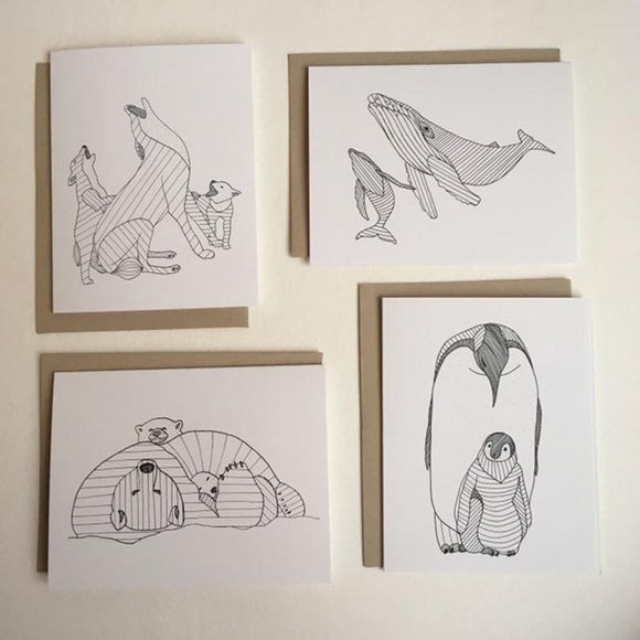 Wildlife Families Notecards