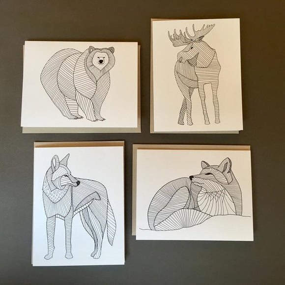 Woodland Drawing Notecards